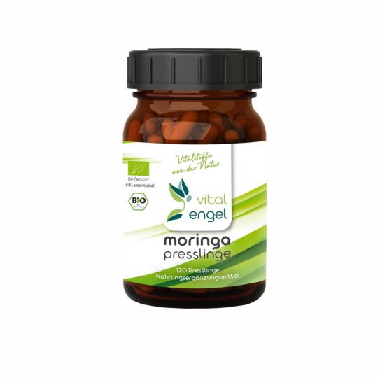 BIO Moringa Presslinge (120 Stück - ohne Zellulose) - VITAL ENGEL