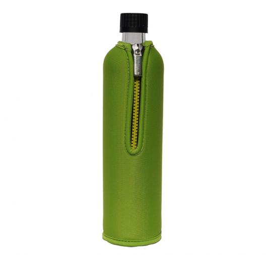 Glasflasche mit Neoprenbezug grün (500 ml) - DORAs
