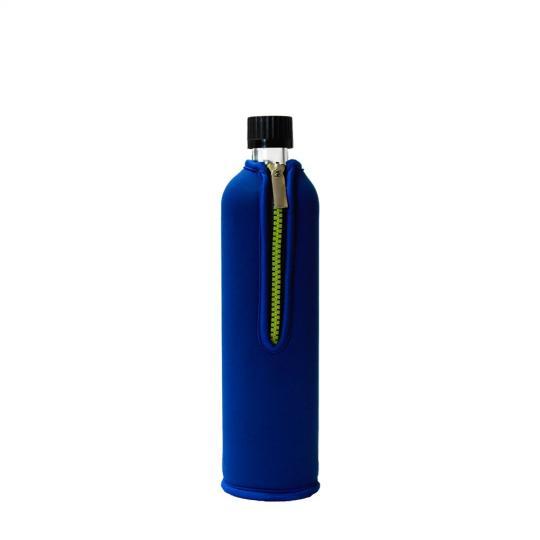 Glasflasche mit Neoprenbezug blau (700 ml) - DORAs