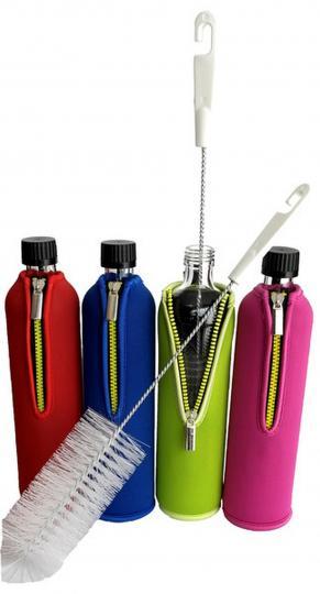 Flaschenbürste (1 Stück, weiß) für Glasflaschen - DORAs