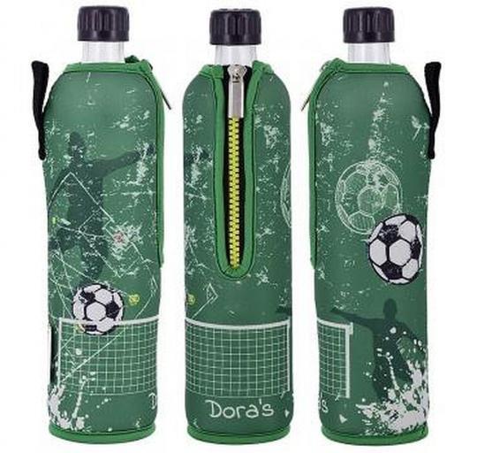 Glasflasche mit Neoprenbezug Fußball (500 ml) - DORAs