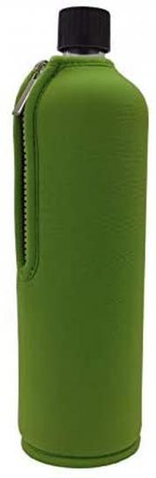 Glasflasche mit Neoprenbezug grün (700 ml) - DORAs