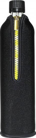 Glasflasche mit Neoprenbezug schwarz (700 ml) - DORAs