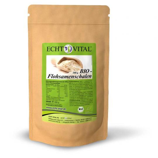 Flohsamenschalen-1 (Bio) (Beutel mit 300g) - Echt Vital