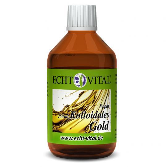 Kolloidales Gold - 8 ppm - (250ml) - Echt Vital