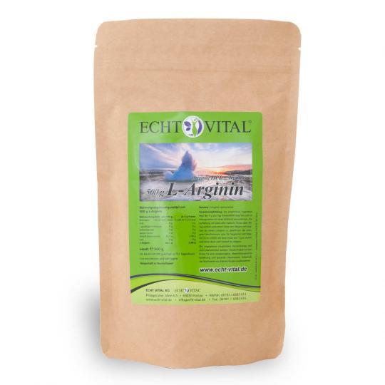 L-Arginin (500g Pulver) - Echt Vital