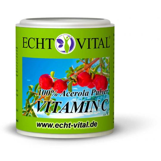 Vitamin C - Acerola Pulver (100g)  -  Echt Vital
