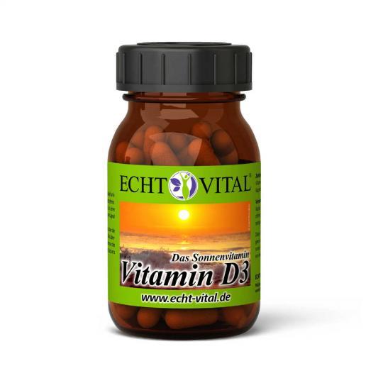 Vitamin D3 Kapseln (60 Stück) - Echt Vital