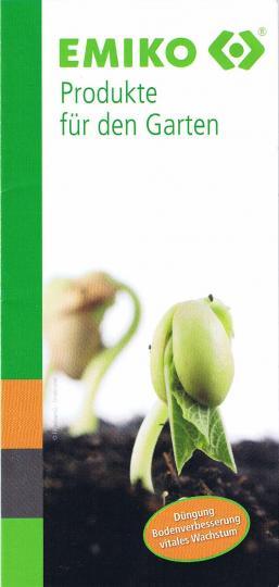 Flyer EMIKO Produkte für den Garten