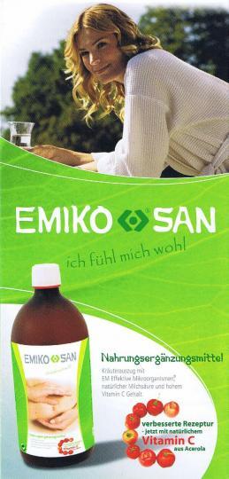 Flyer EMIKO SAN - Nahrungsergänzungsmittel