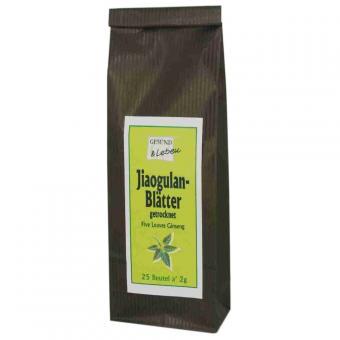 Jiaogulan Blätter gemahlen (25x2g Beutel) - Gesund & Leben