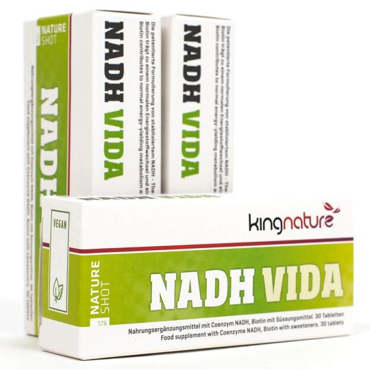 NADH VIDA (vegan/vegetarisch) (30 Tabletten) - kingnature