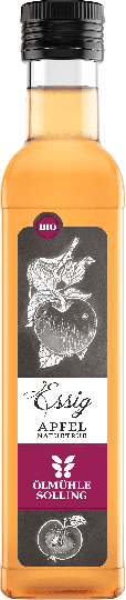 Apfelessig naturtrüb (250ml) (Bio) - Ölmühle Solling