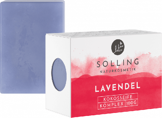 Lavendel Kokosseife (100g)  - Solling Naturkosmetik