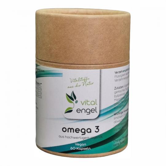 Omega-3  aus Algenöl vegan (60 Kapseln) - VITAL ENGEL