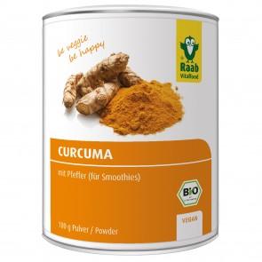 Curcuma Pulver (mit Pfeffer/Piperin) (Bio) (100 g) - Raab Vitalfood