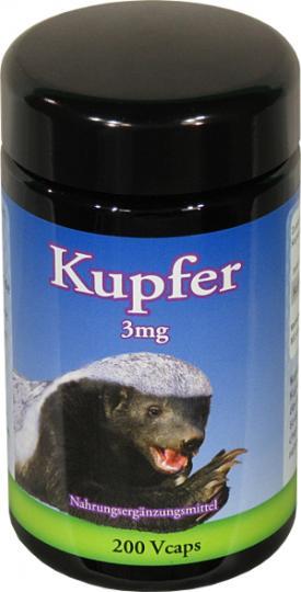 Kupfer 3 mg - 200 Kapseln by Robert Franz