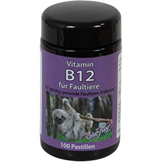 Vitamin B12 Pastillen für Faultiere (Dose - 100 Pastillen) - Robert Franz