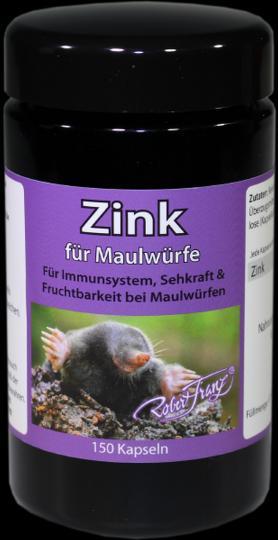 Zink  (50 mg) für Maulwürfe (150 Kap.) - by Robert Franz