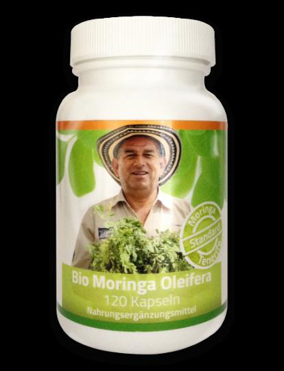 Moringa Kapseln (120 Stück) (Bio) in Standard-Qualität - MoringaGarden