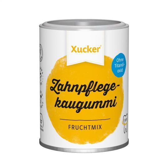 Xylit-Kaugummi Typ Frucht (100g Dose) - Xucker