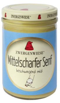 MHD 12/19 ... Senf - Mittelscharf (Bio) 160 ml - Zwergenwiese
