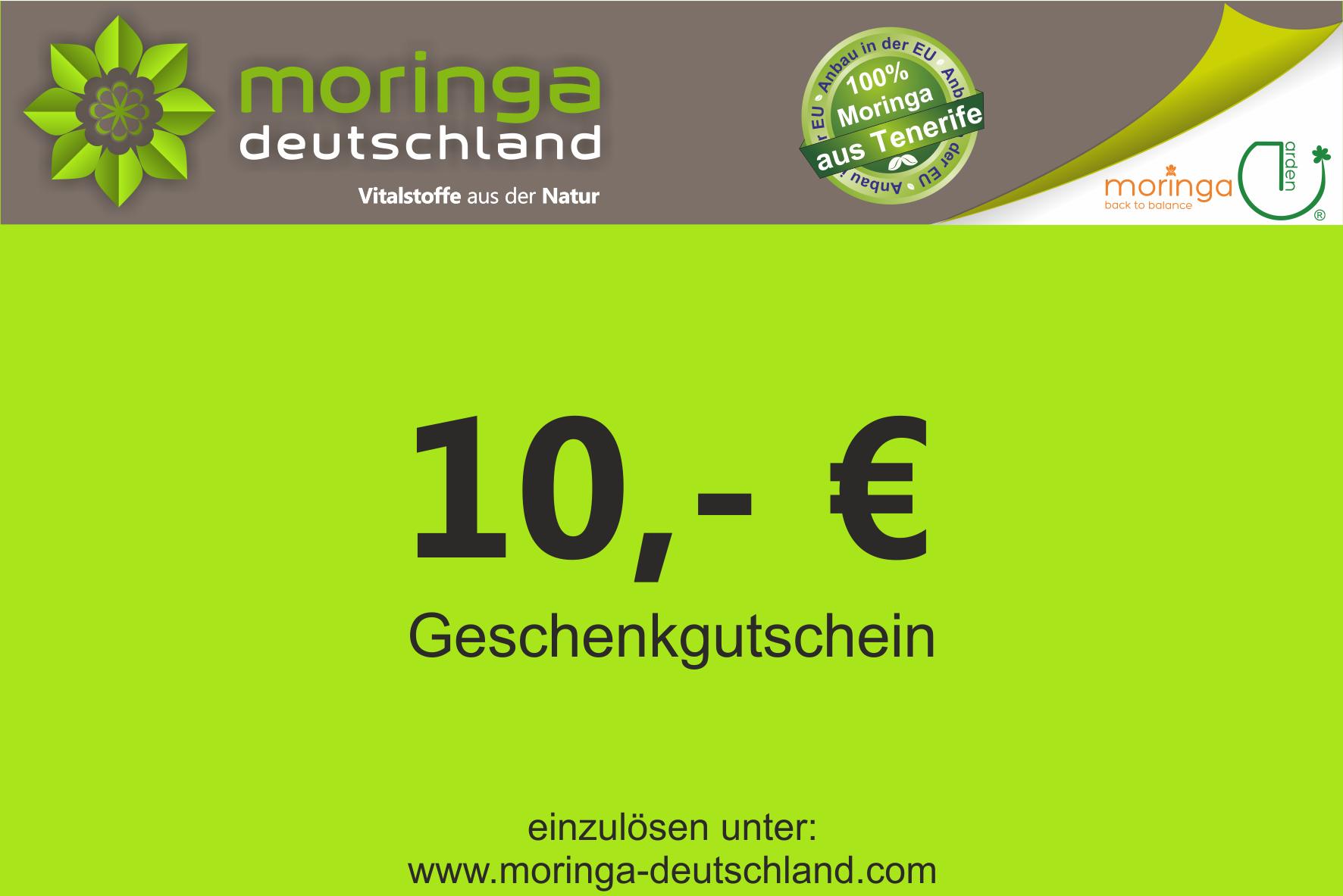 moringa deutschland online shop 10 geschenkgutschein moringa online kaufen. Black Bedroom Furniture Sets. Home Design Ideas