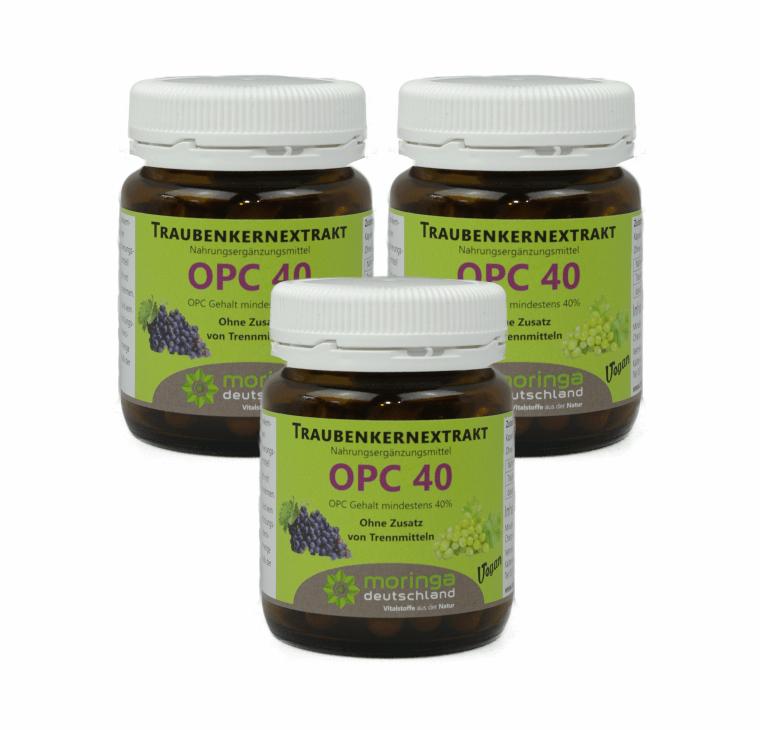 OPC 40 Kapseln (60 Stück) - 3er Sparpack - Moringa Deutschland