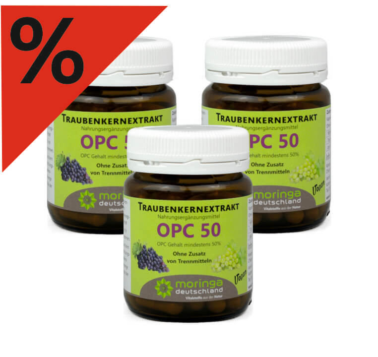 OPC 50 Kapseln (60 Stück) - 3er Sparpack - Moringa Deutschland